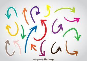 Vettore di freccia colorata