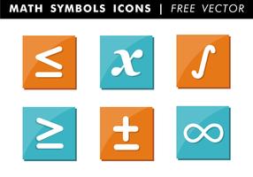 Vettore libero delle icone di simboli di per la matematica