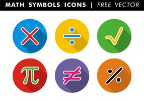 Vettore delle icone di simboli di per la matematica