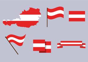 Austria gratis mappa vettoriale