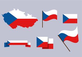 Repubblica Ceca Mappa vettoriale gratuito
