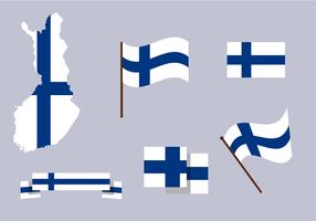 Vettore di mappa Finlandia gratis