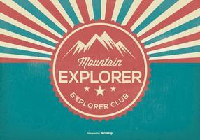 illustrazione retrò di esploratore di montagna vettore