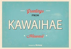 Retro illustrazione di saluto di Kawaihae Hawai