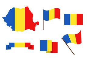 Romania mappa vettoriale gratis