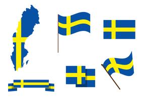 Vettore di mappa di Svezia gratis