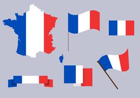 Vettore della mappa della Francia