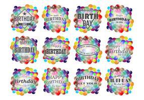 Vettore delle etichette di compleanno di Smarties