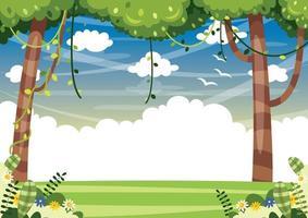 paesaggio forestale colorato