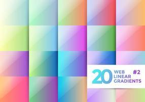 Gradienti lineari Web 2 vettore