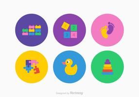 Icone gratis di vettore di roba per bambini