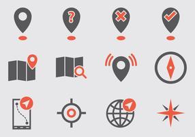 Mappa Legenda icone vettoriali