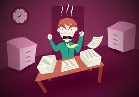 vettore dell'ufficio del lavoro di burnout