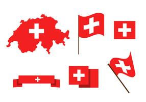 Svizzera gratuita Mappa vettoriale