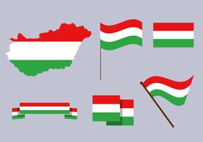 Vettore di mappa Ungheria gratis