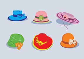 vettore di cappello carino