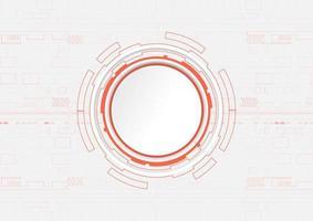 disegno di tecnologia cerchio arancione con copyspace
