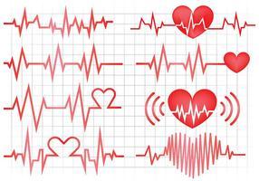 Vettore libero delle icone del monitor di cuore