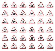 segno di avvertimento simboli simboli di pericolo vettore