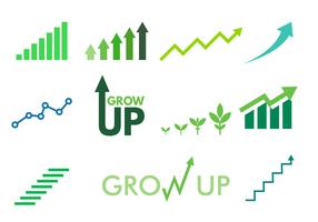 Icona di vettore di crescita gratuita