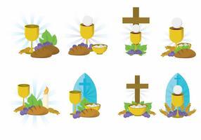 Insieme di vettore di eucaristia