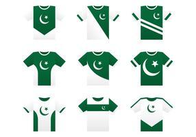 Pakistan Concetto di Jersey vettore