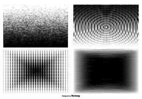 Set di texture di Haltone degradato vettore