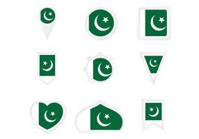 Modello di bandiera del Pakistan