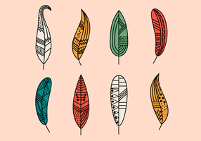 Hipster Feathers Vector gratuito