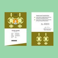 modello di carta d'identità forma semplice verde lime vettore