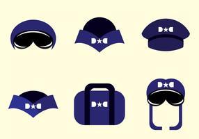 Vettori di cappello pilota di avion