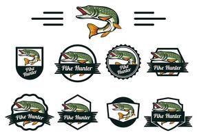 Vettore di pesce luccio