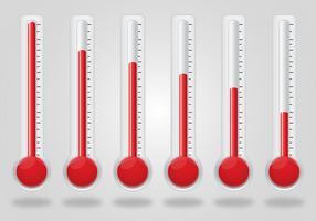 Set vettoriale termometro