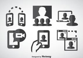 Icone di Webinar vettore