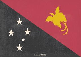 Vecchia illustrazione della bandiera di Papua, Nuova Guinea