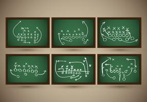 Vettore di strategia dell'ardesia di gioco del calcio del playbook