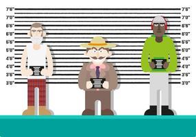 Vettore della polizia dei caratteri del fondo di Mugshot
