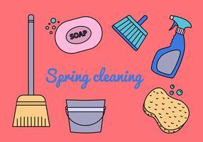 Vettori di pulizia di primavera