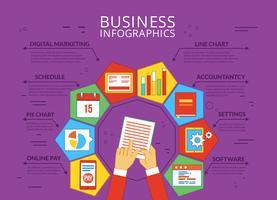 Infografica di vettore di affari