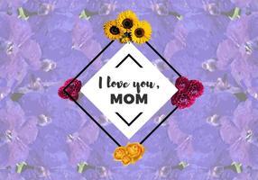 Ti amo libero vettore dei fiori della mamma