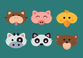 maschera di sonno animale vettoriale