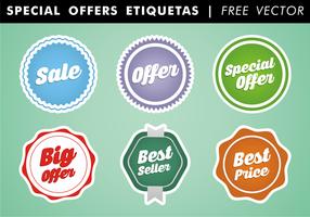 Offerte speciali Etiquetas Vector