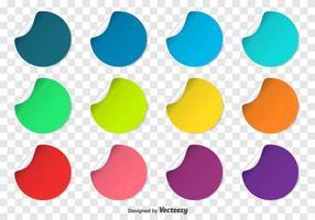 vettore punti elenco colorati
