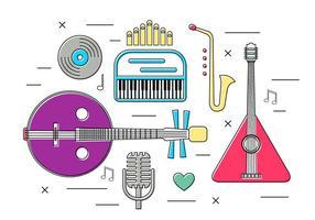 Strumenti musicali vettoriali gratis