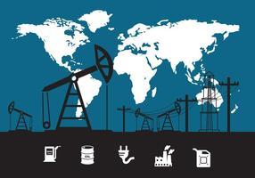 Vettore del giacimento di petrolio