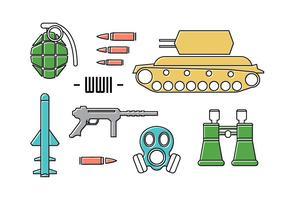 Icone di guerra gratis vettore