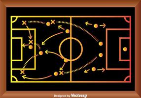 Playbook di strategia di gioco di calcio