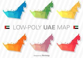 Insieme di vettore della siluetta della mappa degli Emirati Arabi Uniti