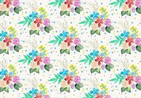 Sfondo floreale acquerello vettoriali gratis