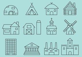Icone della linea di costruzione